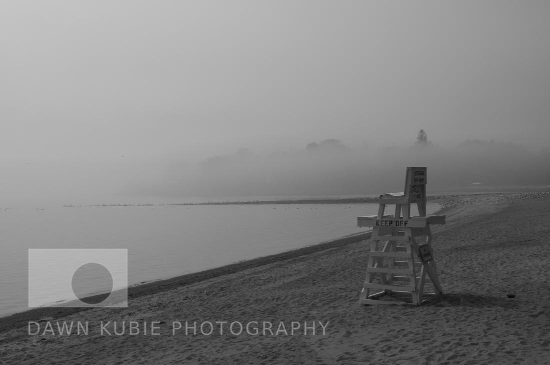 Lifeguard chair and fog